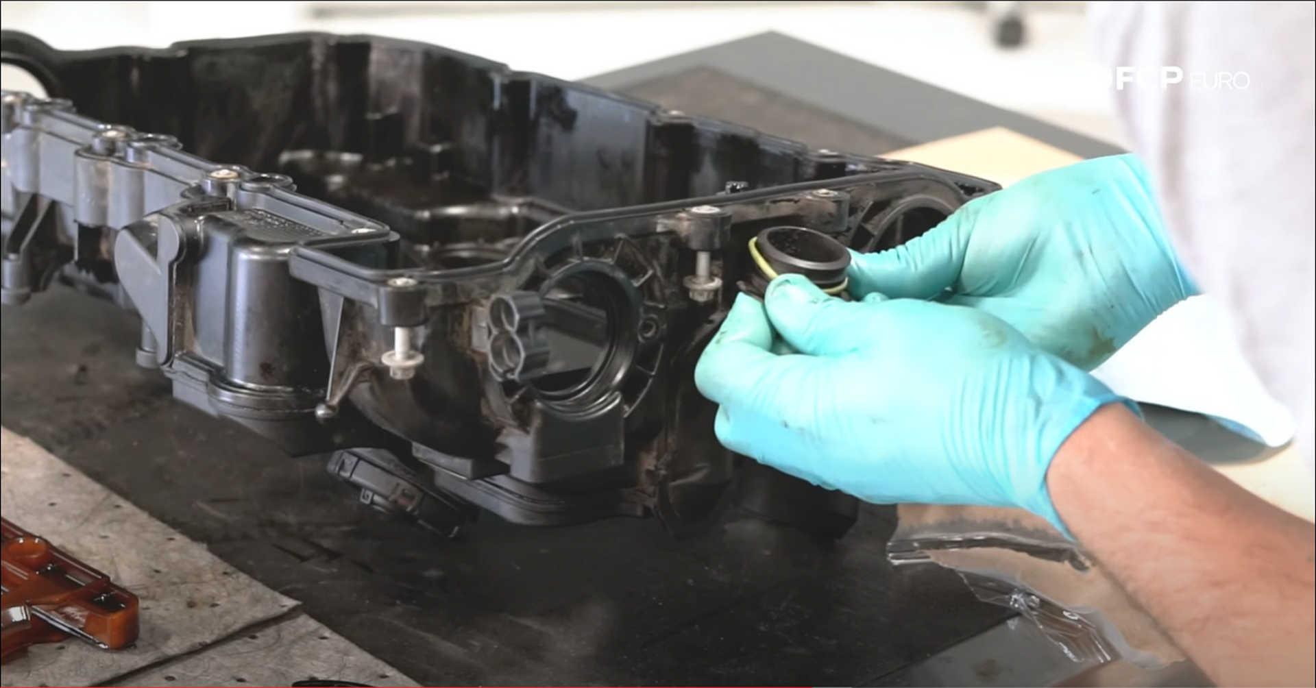 DIY BMW N20 Timing Chain installing the high-pressure fuel pump gasket