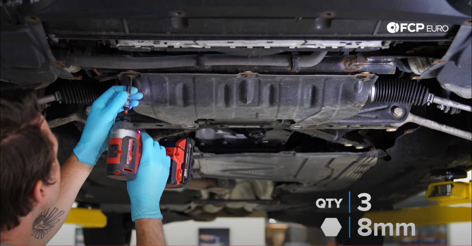 DIY BMW N20 Timing Chain mounting the steering rack cover