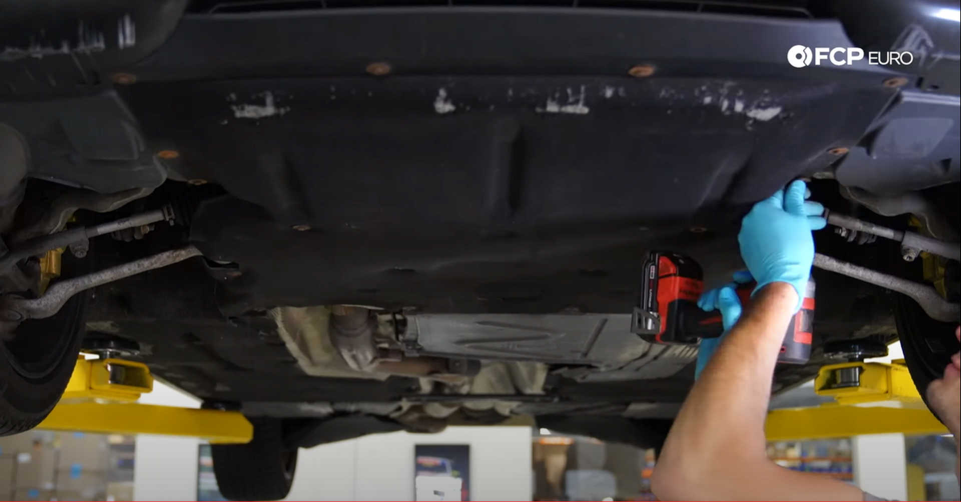 DIY BMW N20 Timing Chain fitting the belly pan