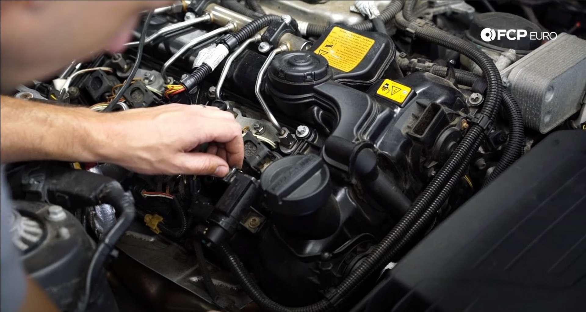 DIY BMW N20 Vacuum Pump unplugging the boost control solenoid