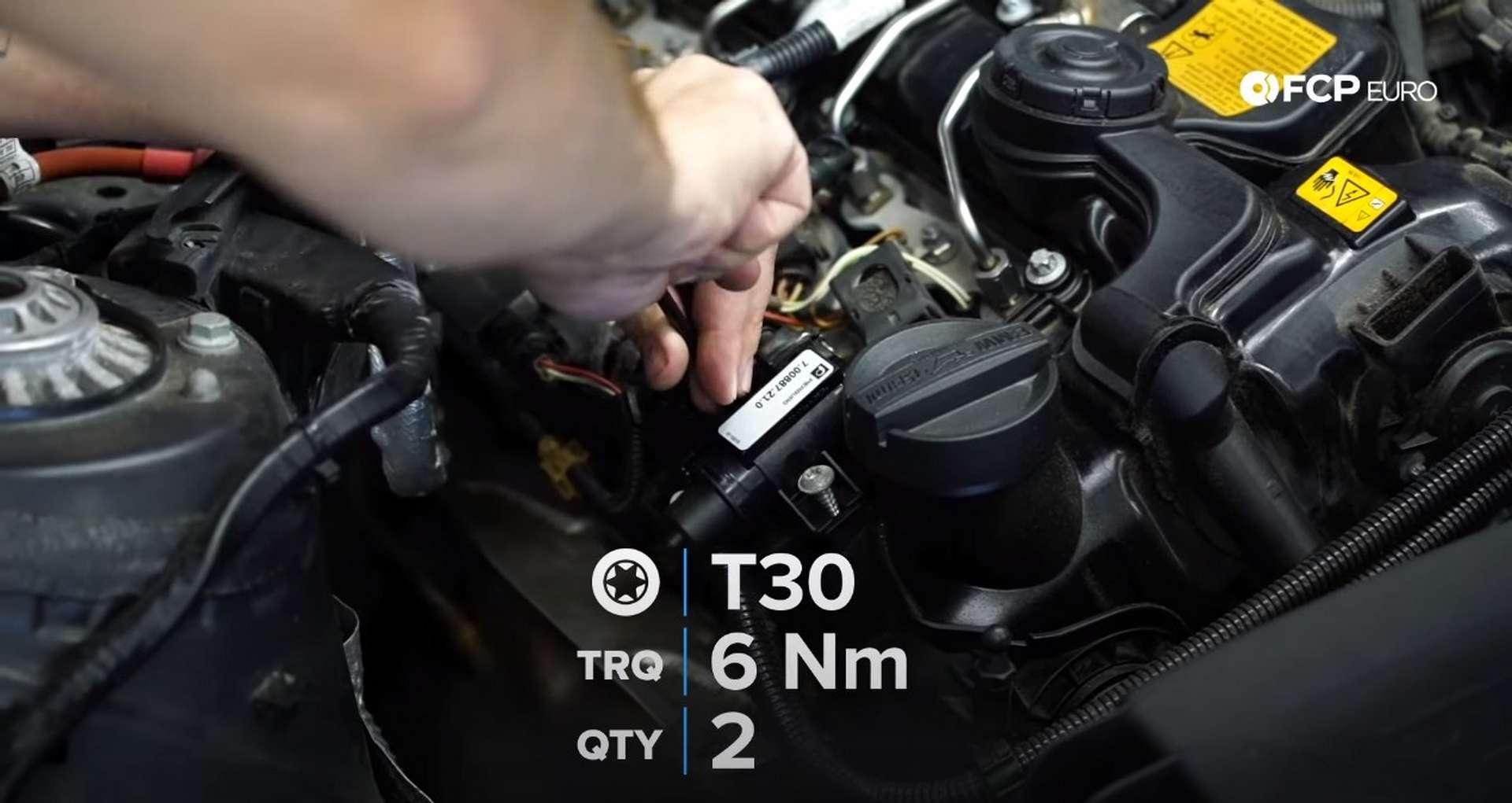 DIY BMW N20 Vacuum Pump installing the new boost solenoid
