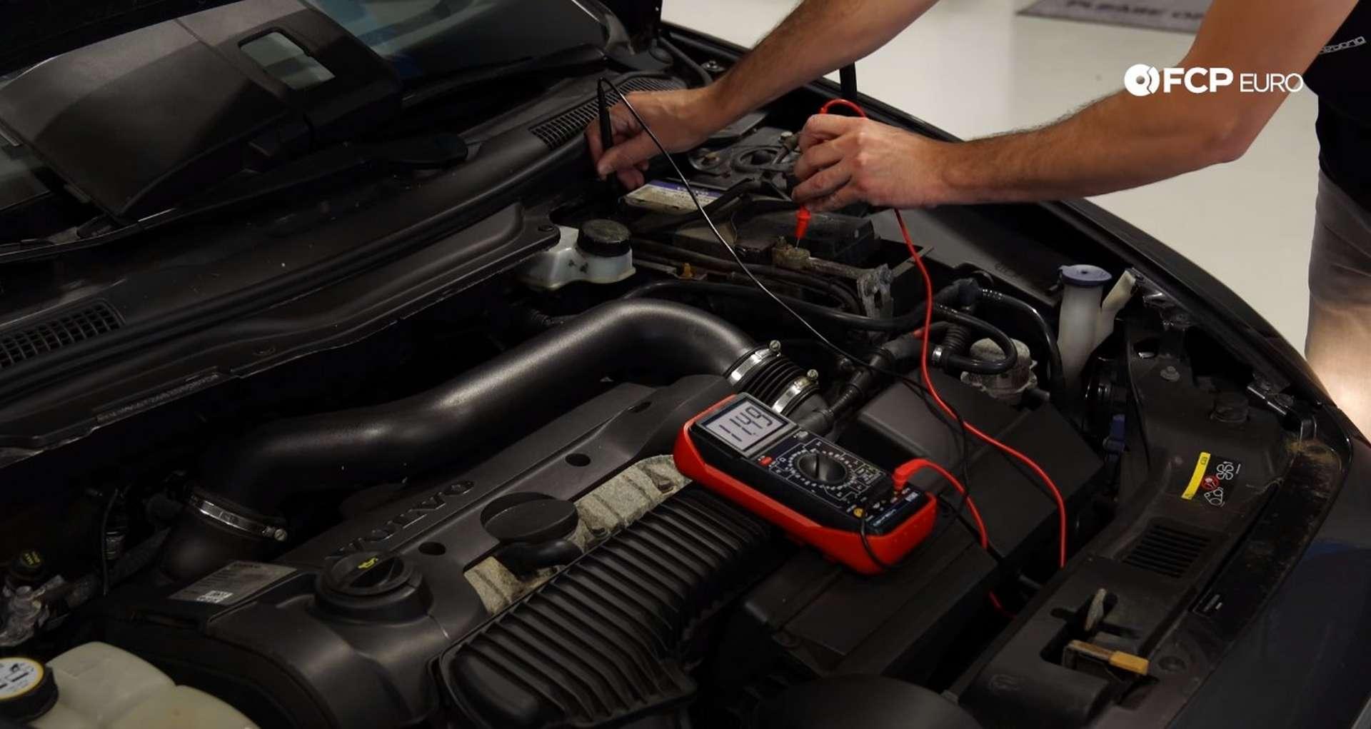 Tech Tip Failing Battery V.S. Failing Alternator checking the alternator with a multimeter