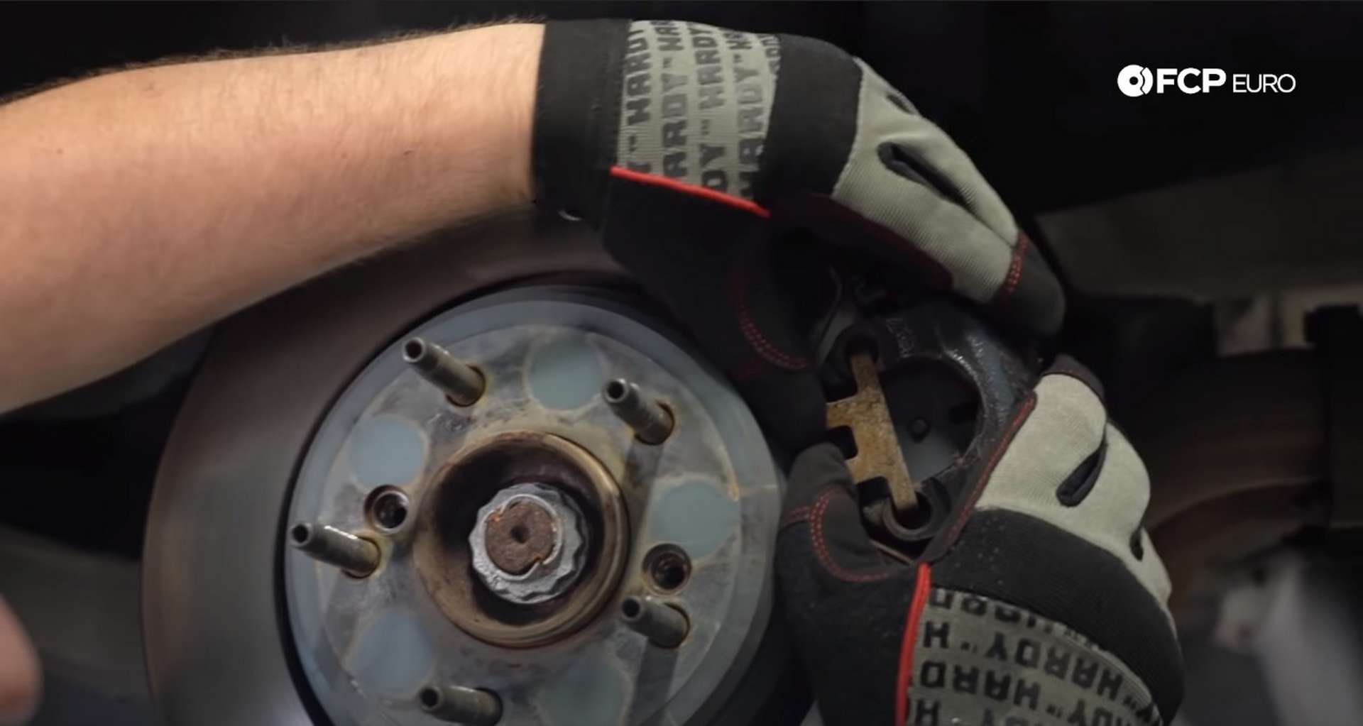 DIY E46 BMW M3 Rear Subframe Refresh Part 1 removing the caliper's anti-rattle clip