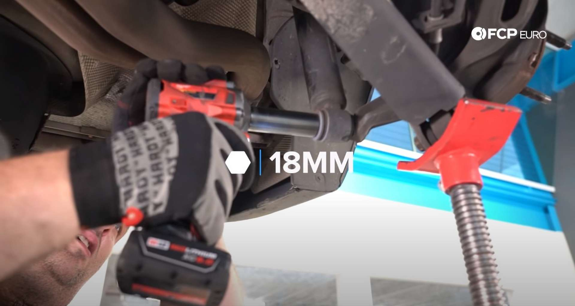 DIY E46 BMW M3 Rear Subframe Refresh Part 1 removing the lower shock mount bolt