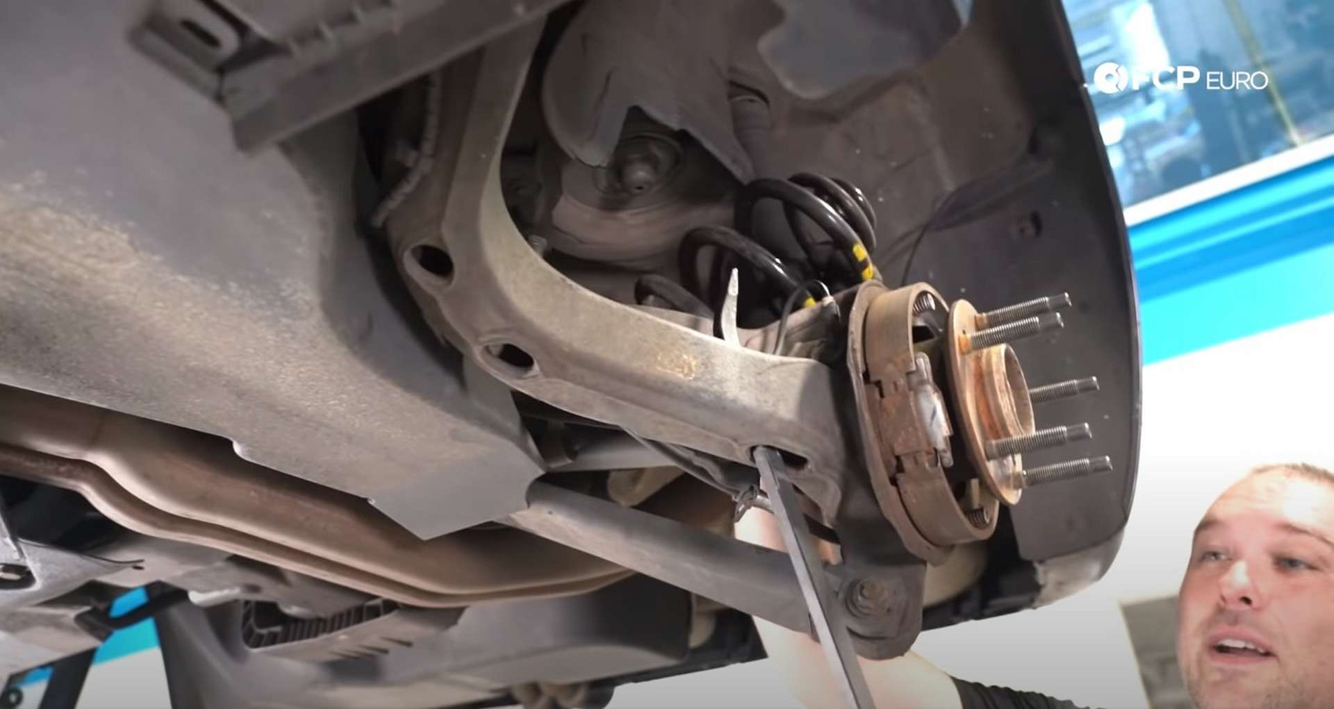DIY E46 BMW M3 Rear Subframe Refresh Part 1 removing the coil spring