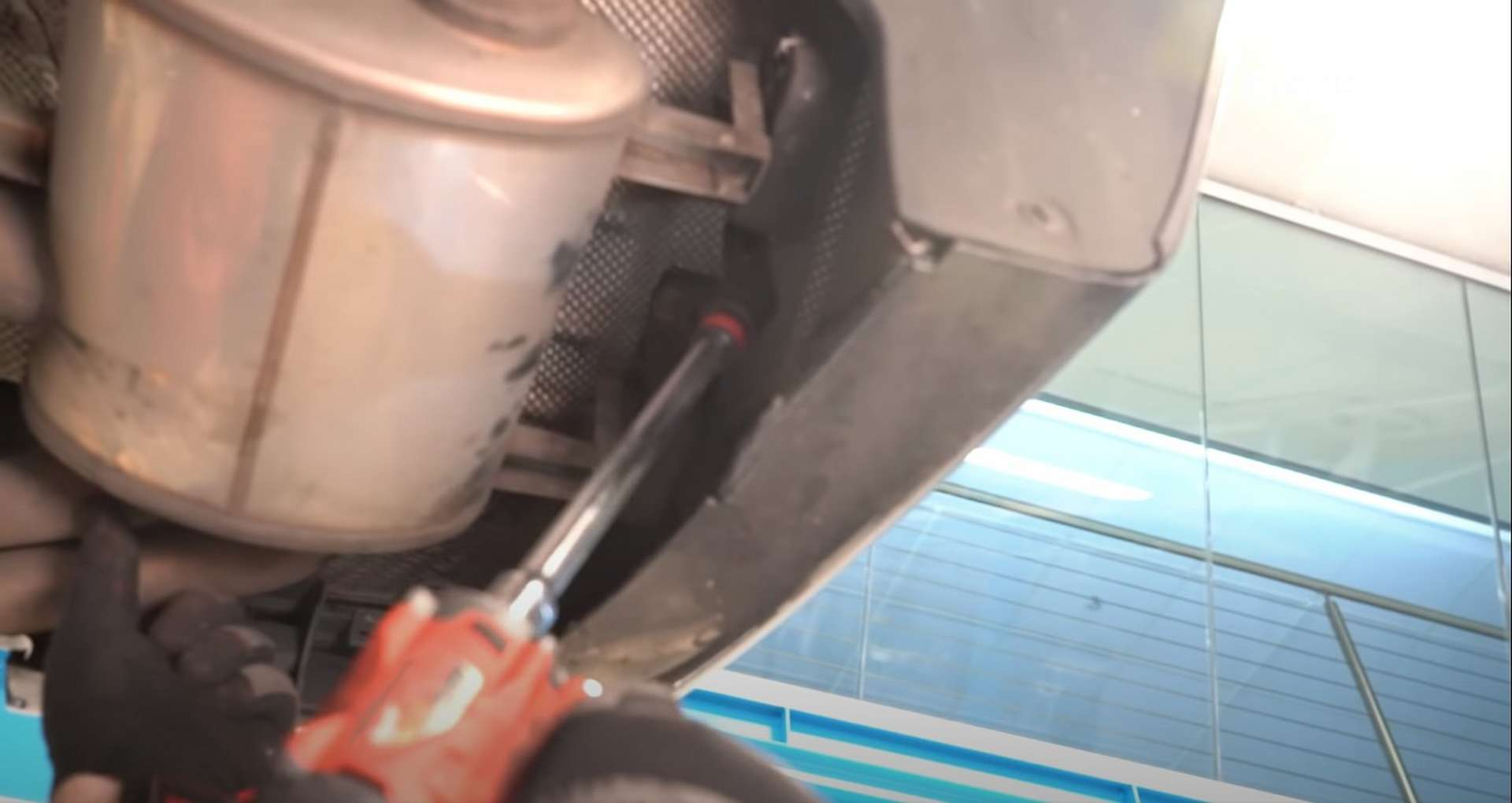 DIY E46 BMW M3 Rear Subframe Refresh Part 1 unbolting the exhaust hanger