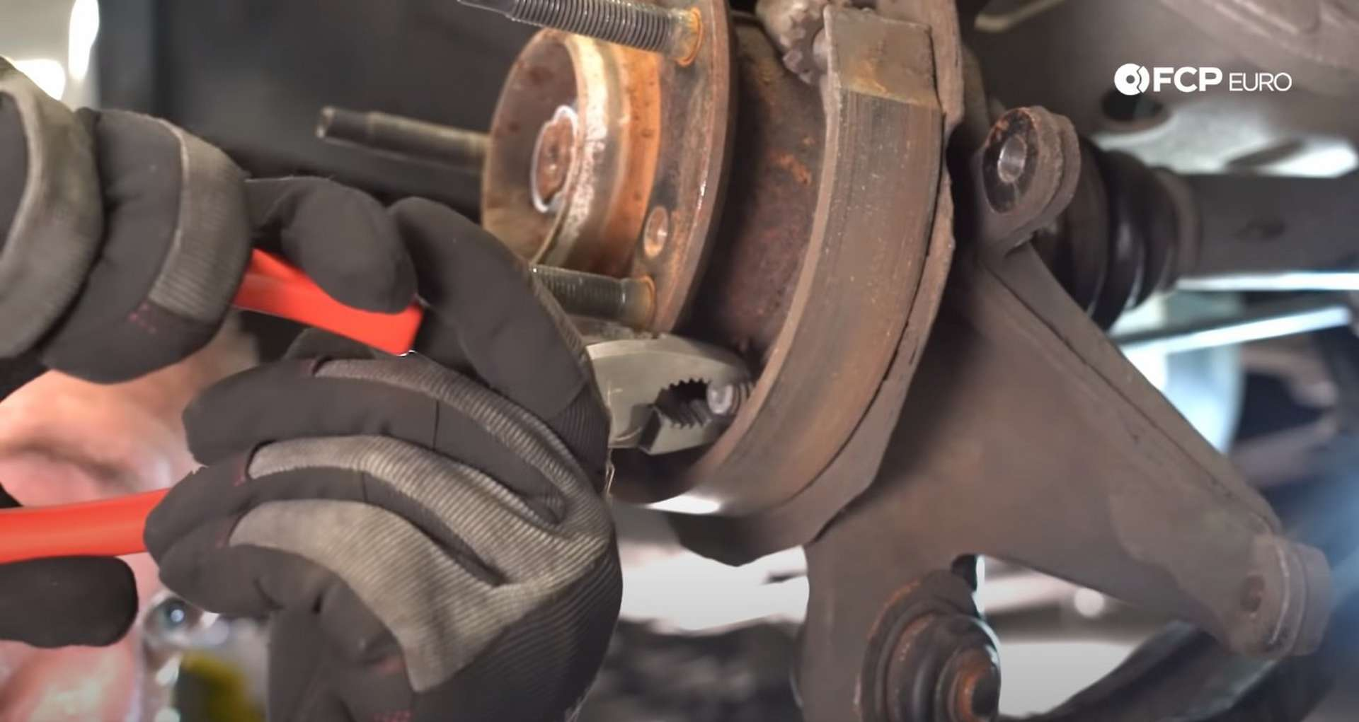 DIY E46 BMW M3 Rear Subframe Refresh Part 1 unlocking the parking brake shoes