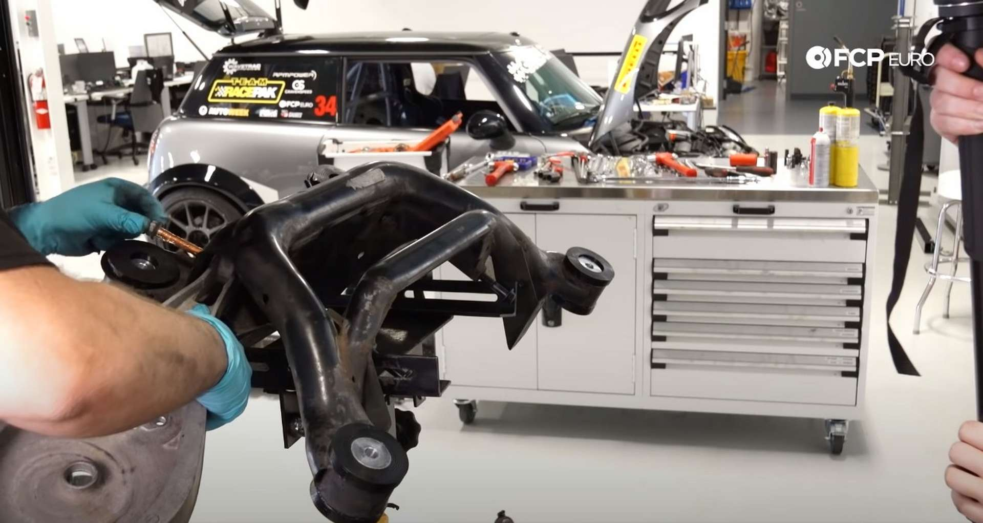 DIY E46 BMW M3 Rear Subframe Refresh Part 3 installing the upper control arms