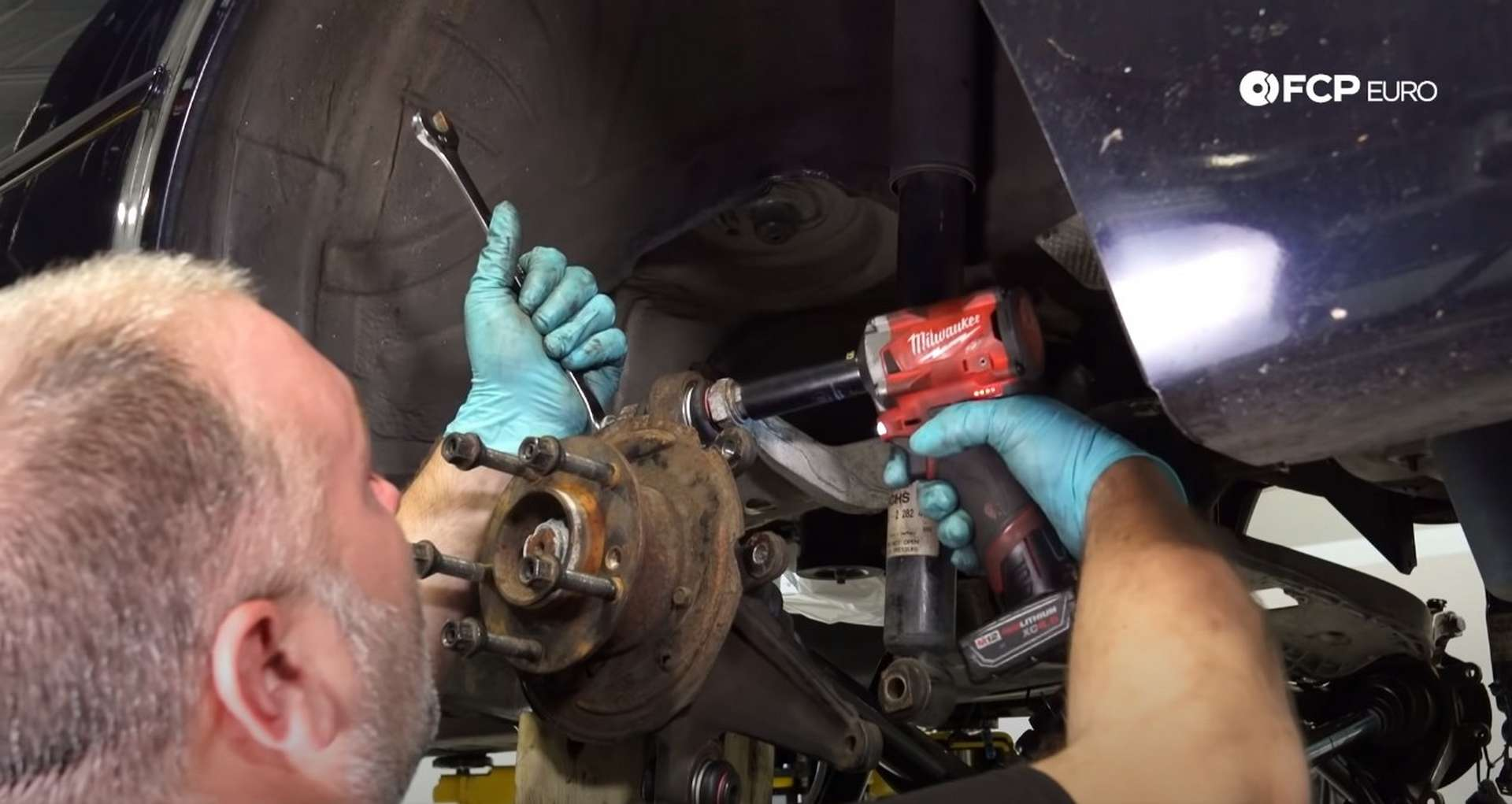 DIY E46 BMW M3 Rear Subframe Refresh Part 3 securing the knuckle assembly to the upper control arm
