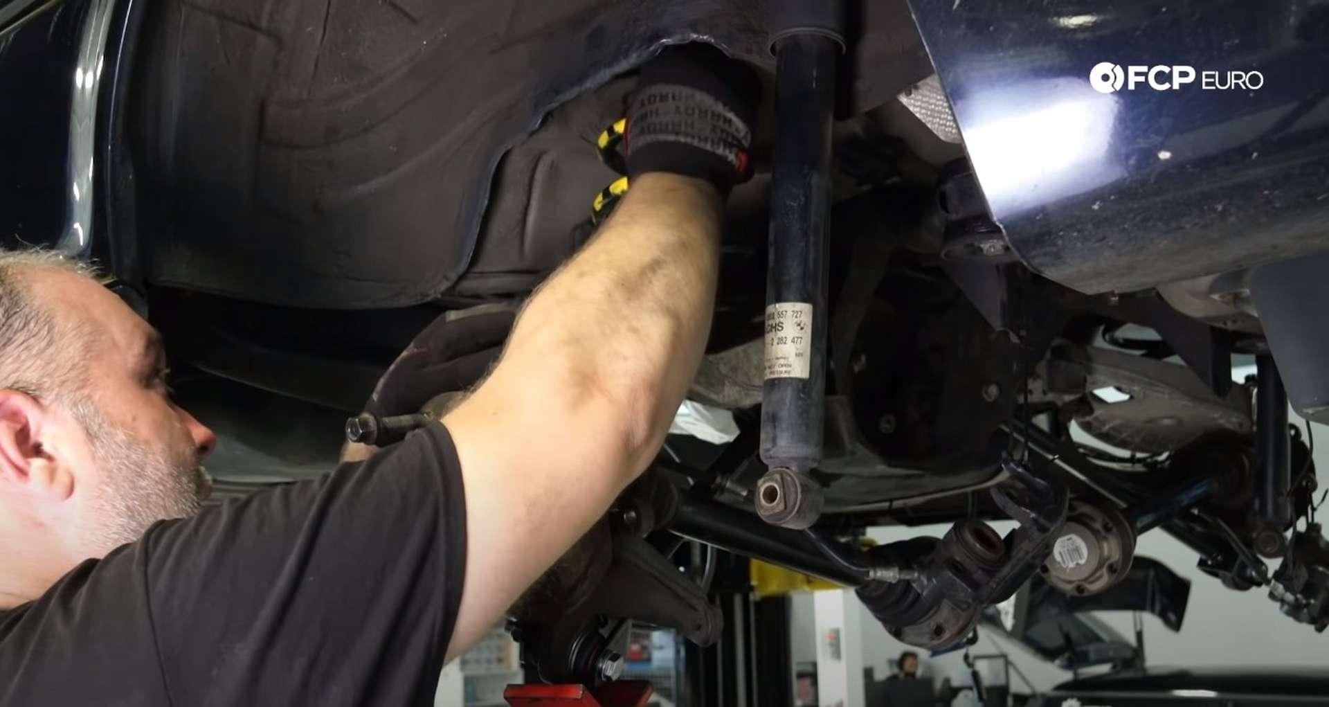DIY E46 BMW M3 Rear Subframe Refresh Part 3 installing the spring