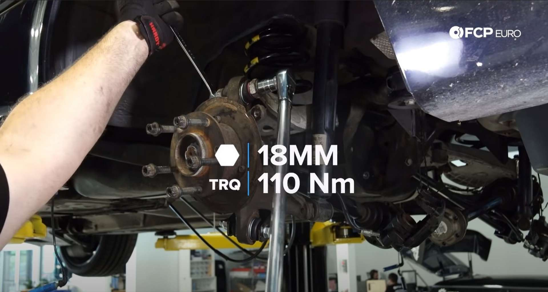 DIY E46 BMW M3 Rear Subframe Refresh Part 3 torquing the outer upper control arm bolt