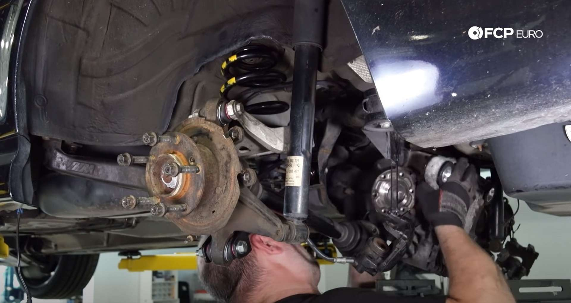 DIY E46 BMW M3 Rear Subframe Refresh Part 3 installing the differential