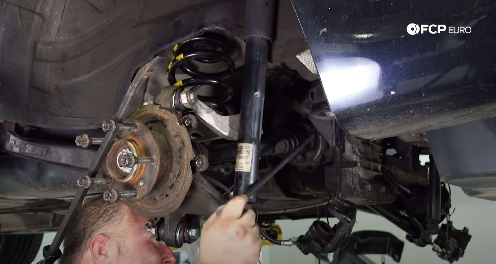 DIY E46 BMW M3 Rear Subframe Refresh Part 3 torquing the axle bolts