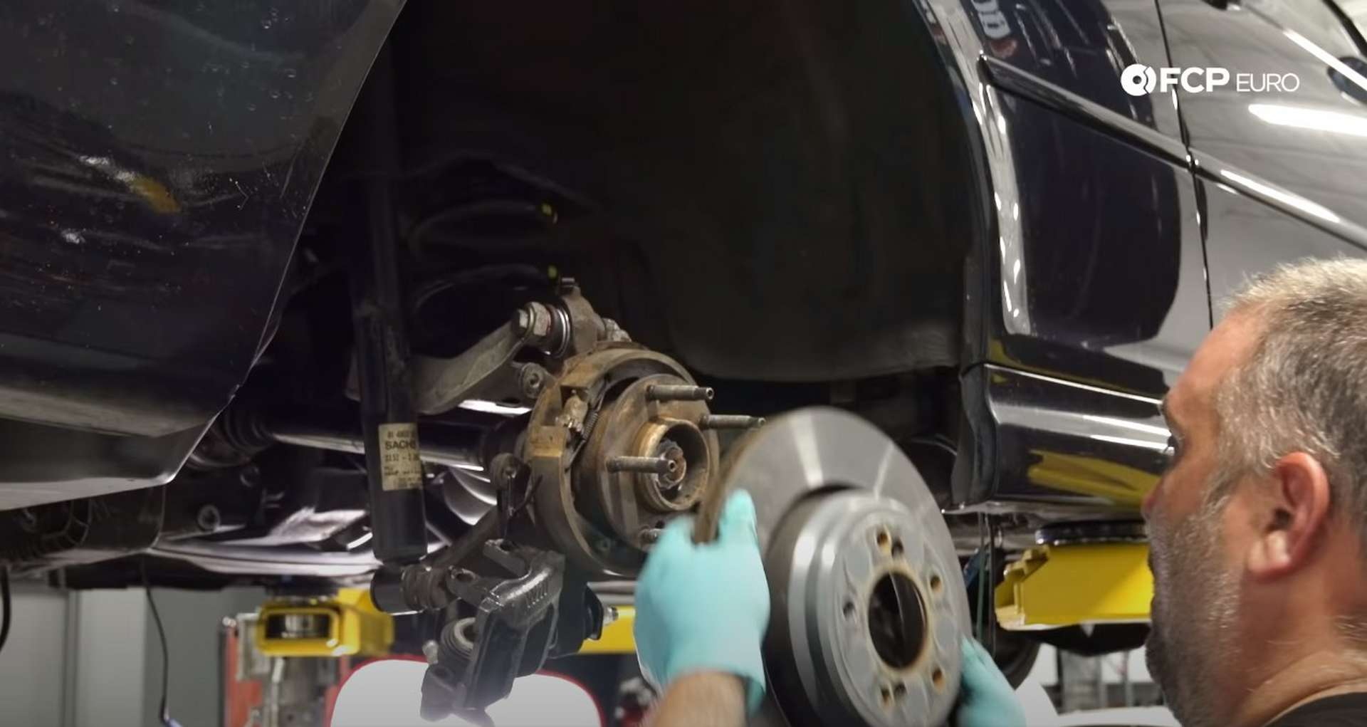 DIY E46 BMW M3 Rear Subframe Refresh Part 3 fitting the rotor