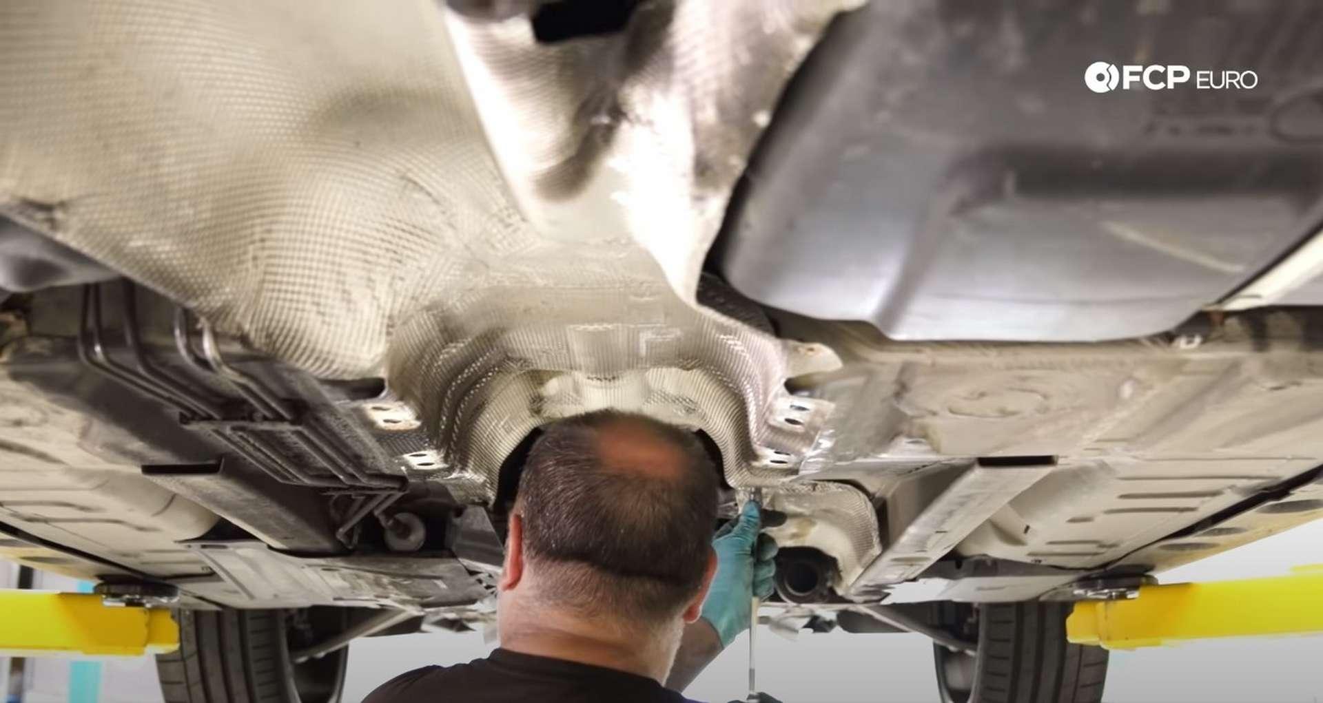 DIY E46 BMW M3 Rear Subframe Refresh Part 3 refitting the exhaust heat shield