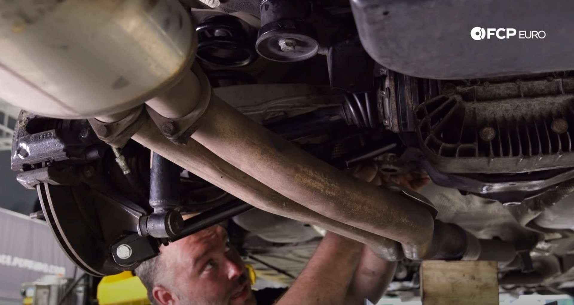DIY E46 BMW M3 Rear Subframe Refresh Part 3 installing the subframe mount heat shield