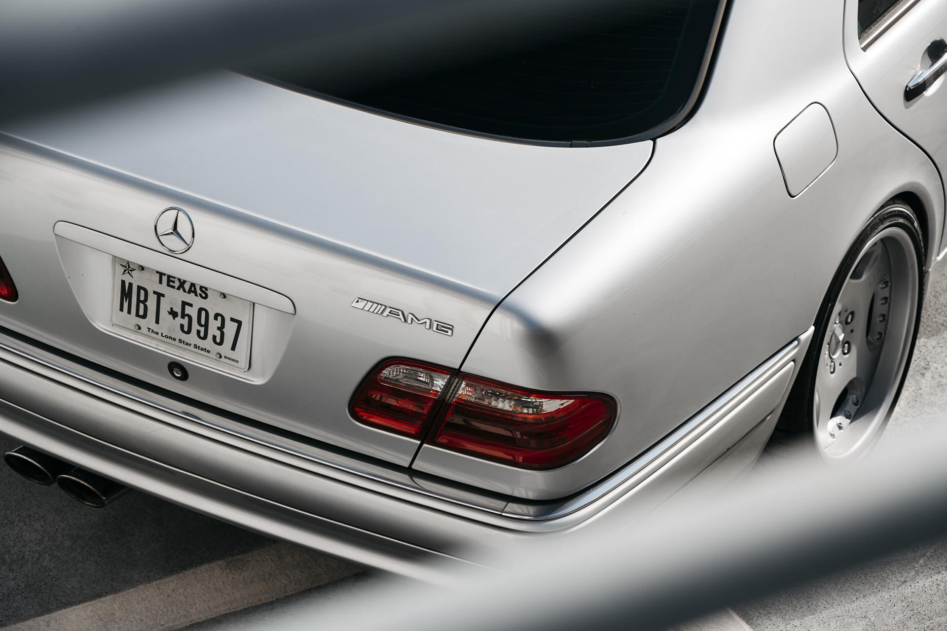 07_Mercedes-Benz E55 AMG manual swapped rear AMG badge