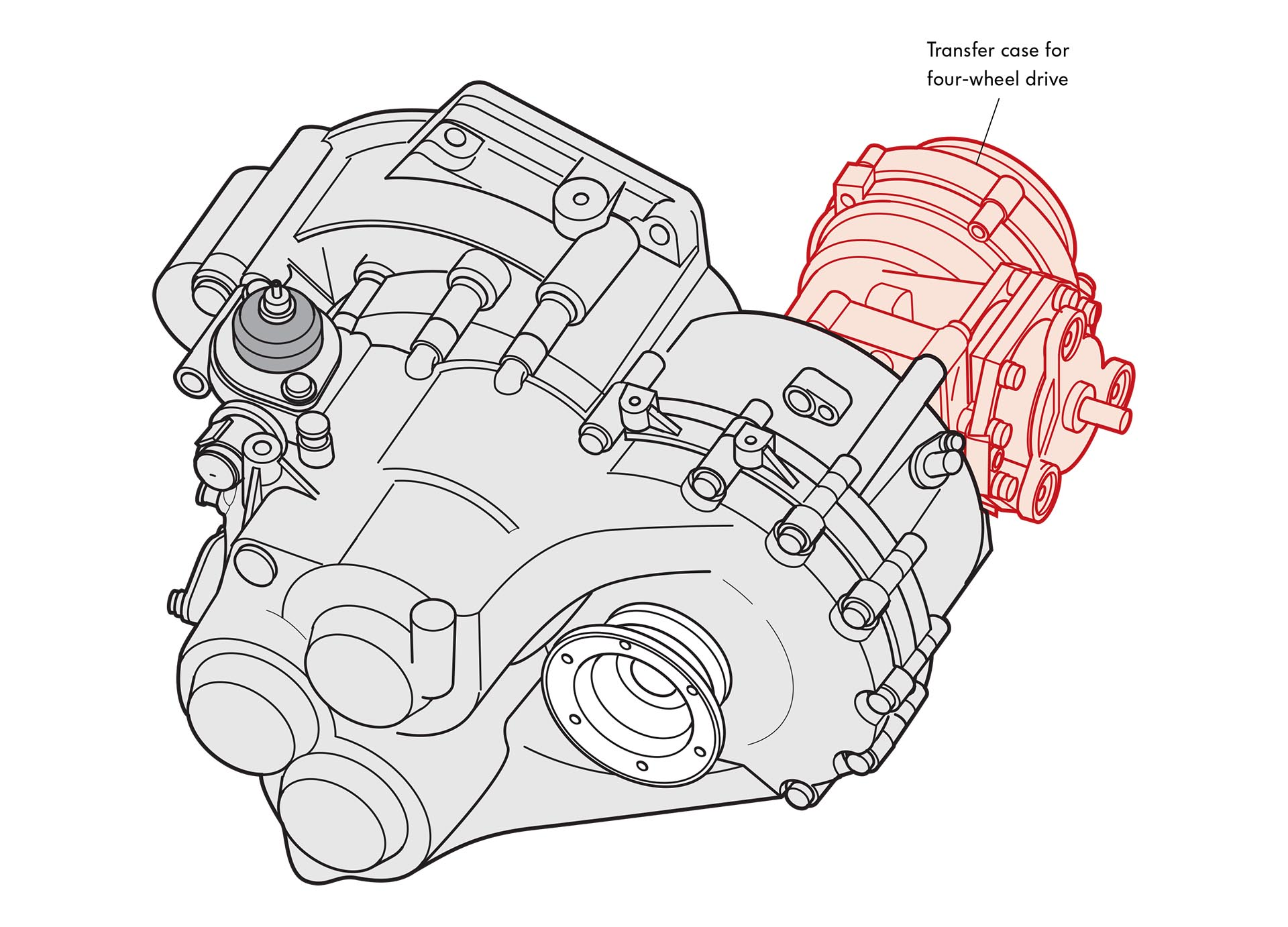 01_VW 02M 4MOTION 6-speed transmission drawing