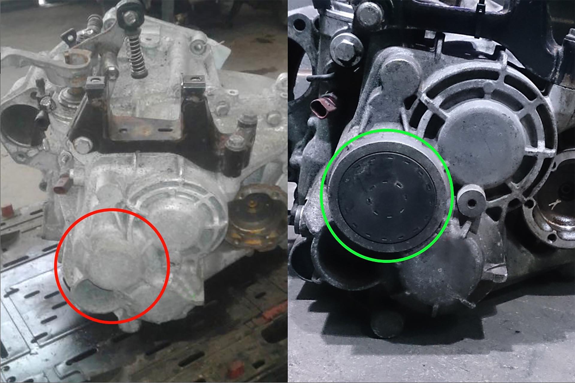 07_VW 02Q Mk5 transmission with input shaft cap