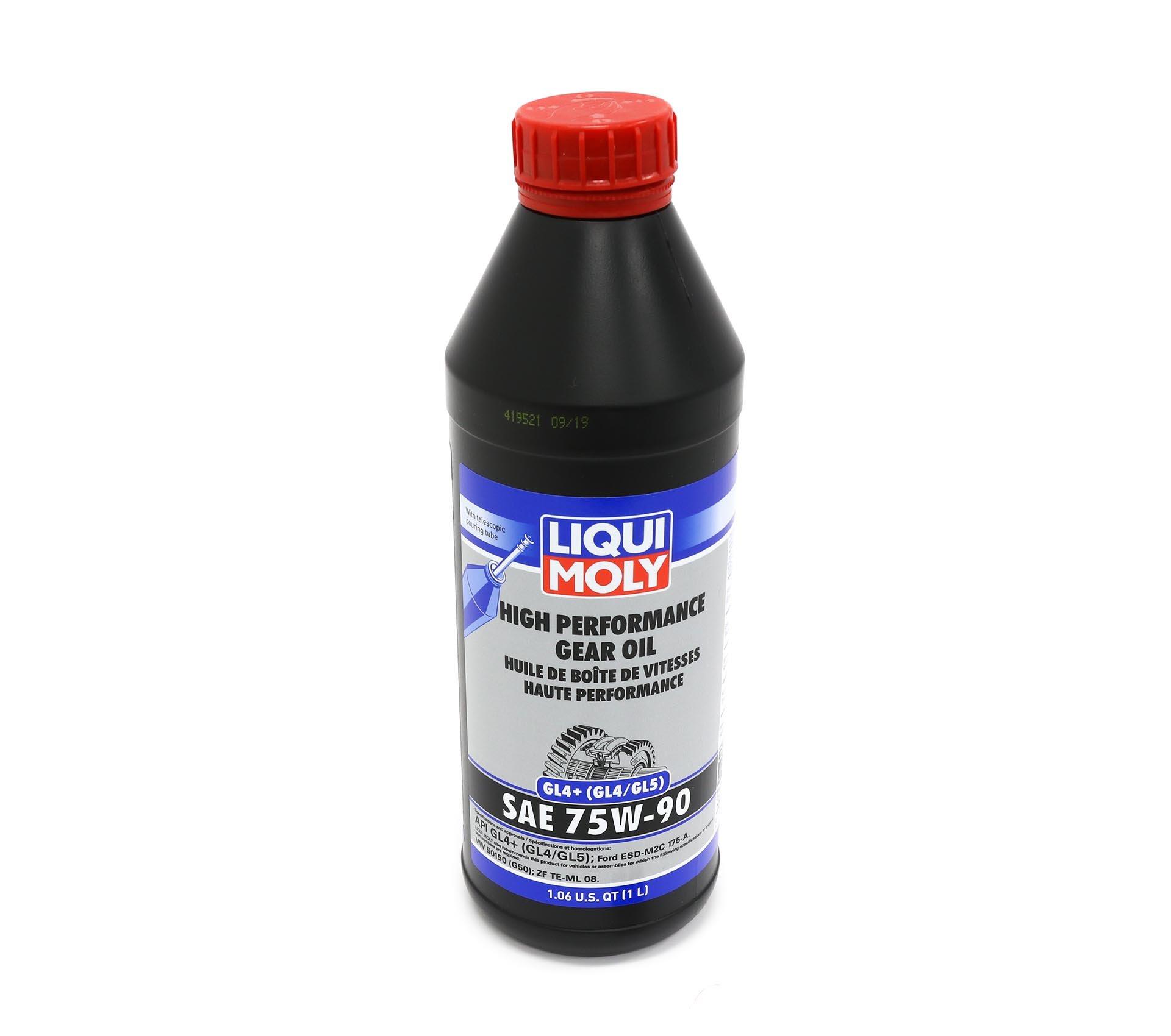 14_LIQUI MOLY 75w90 gear oil for VW GTI 6 speed