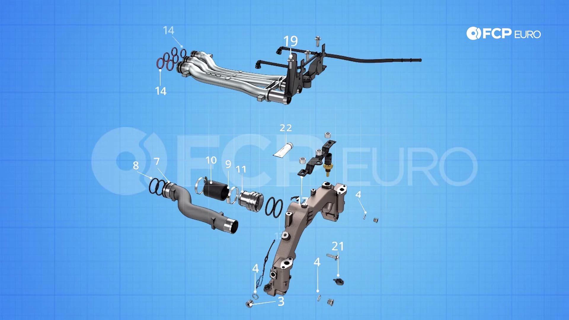 03.1_Porsche Cayennecoolant pipe repair diagram