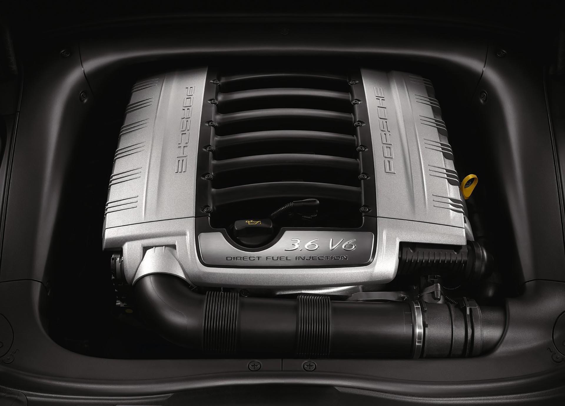 07_Porsche 957 Cayenne 3.6 VR6 base engine bay