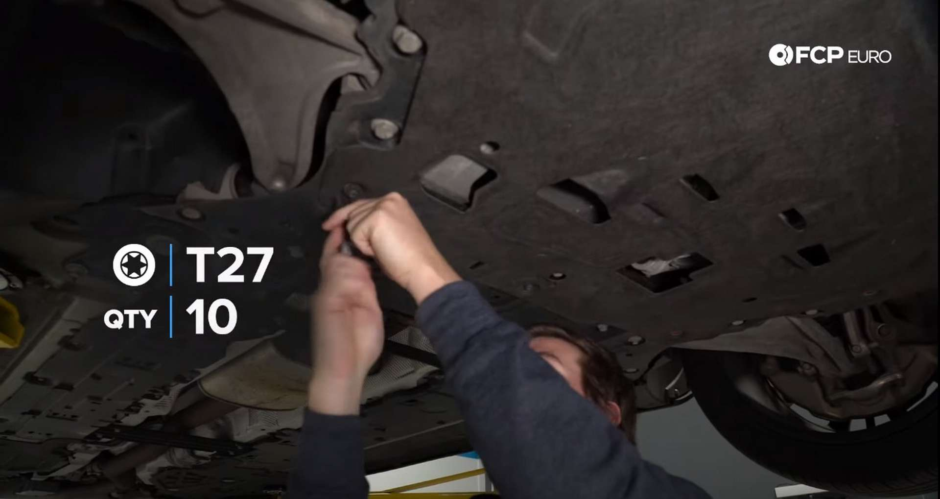 DIY Volvo SPA Oil Change removing the belly pan