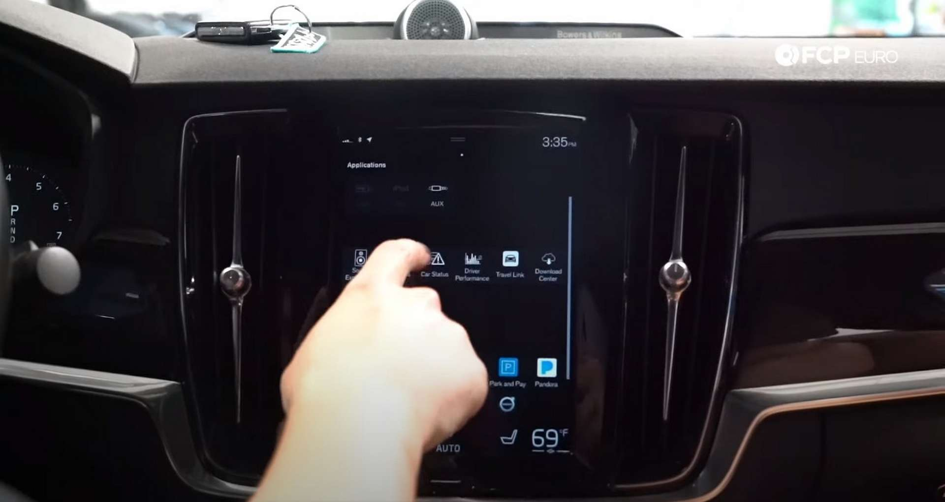 DIY Volvo SPA Oil Change selecting the car status app