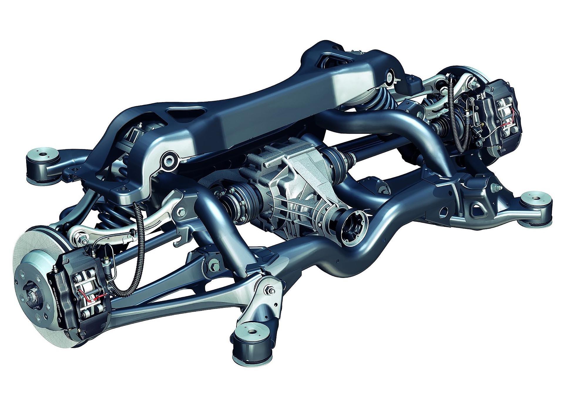 03_9PA Porsche 955 957 Cayenne rear subframe and axle diagram