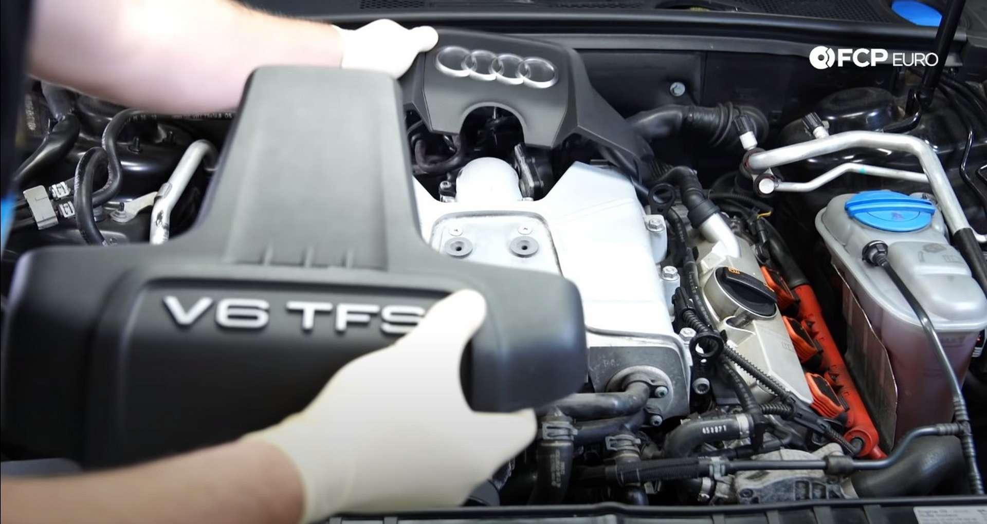 DIY Audi 3.0t Walnut Blasting Intake Valves removing the dress-up covers