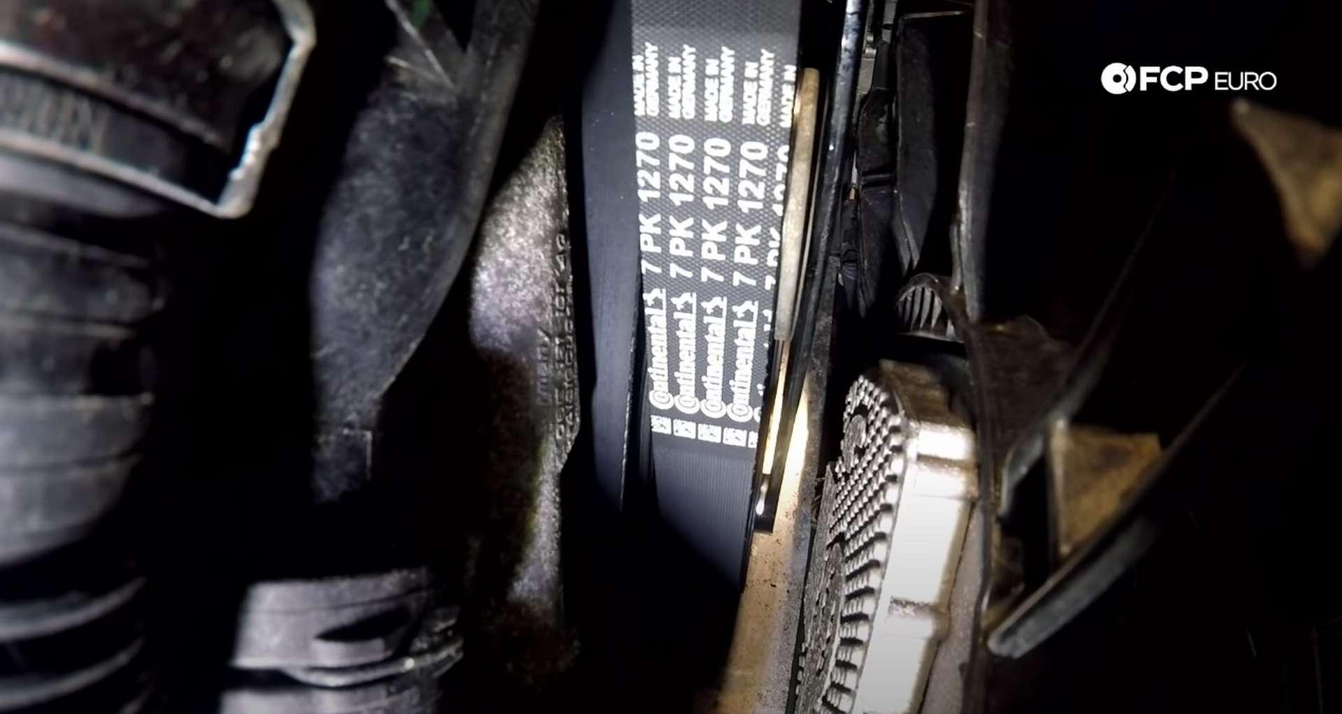 DIY Audi 3.0t Walnut Blasting Intake Valves relieving the tensioner's tension