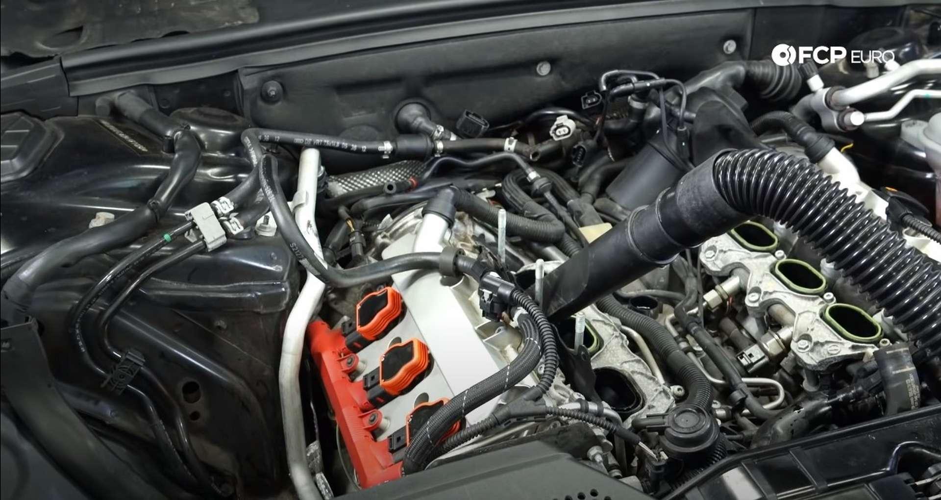 DIY Audi 3.0t Walnut Blasting Intake Valves removing the supercharger
