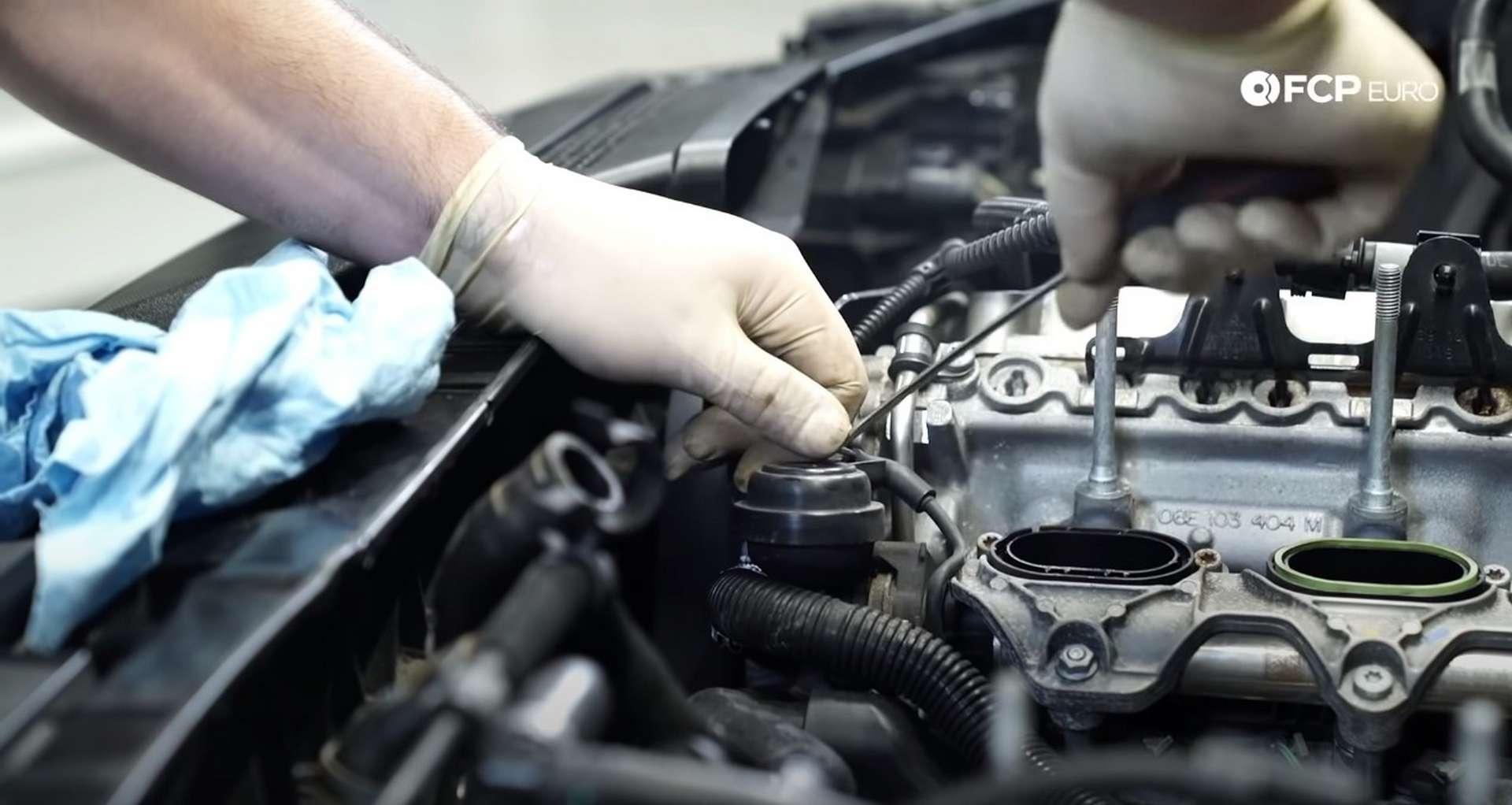 DIY Audi 3.0t Walnut Blasting Intake Valves disconnecting the short vacuum line