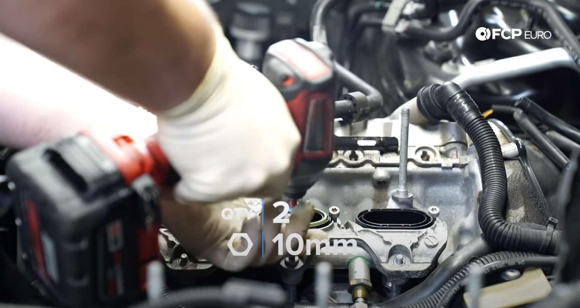 DIY Audi 3.0t Walnut Blasting Intake Valves unbolting the intake manifold