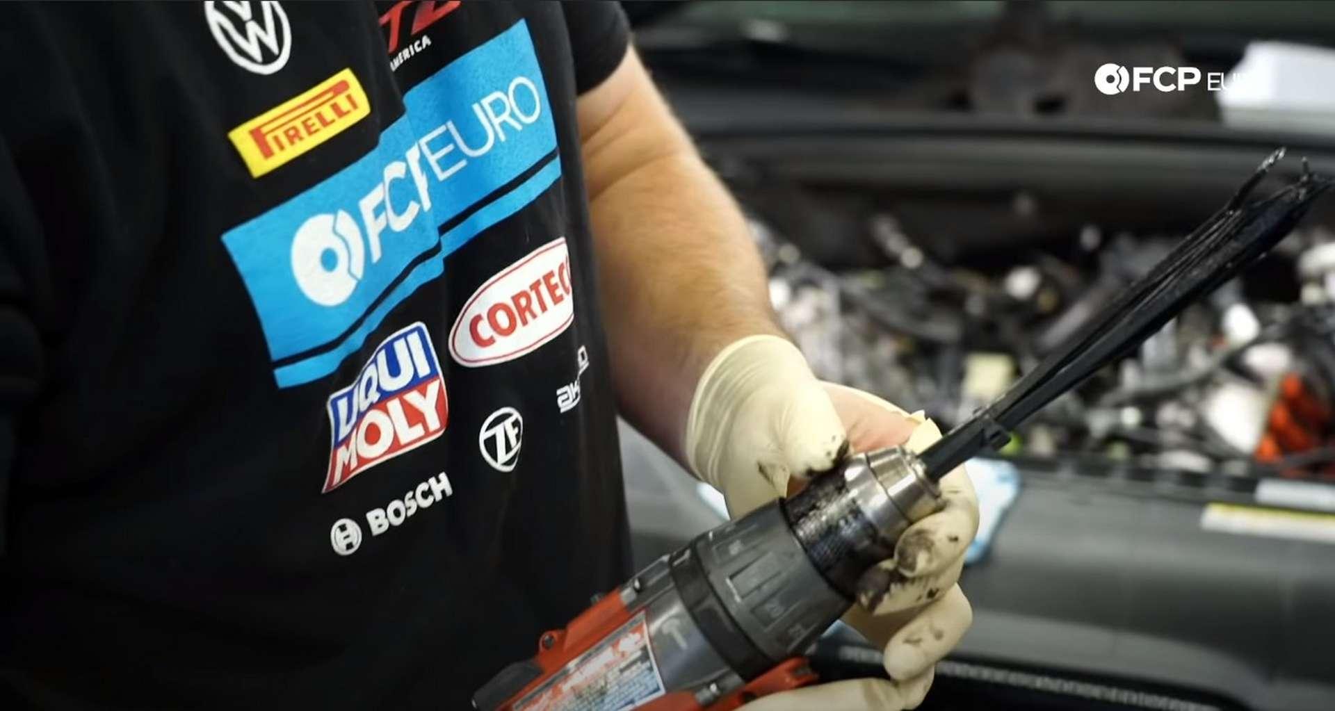 DIY Audi 3.0t Walnut Blasting Intake Valves Audi TSB zip tie tool