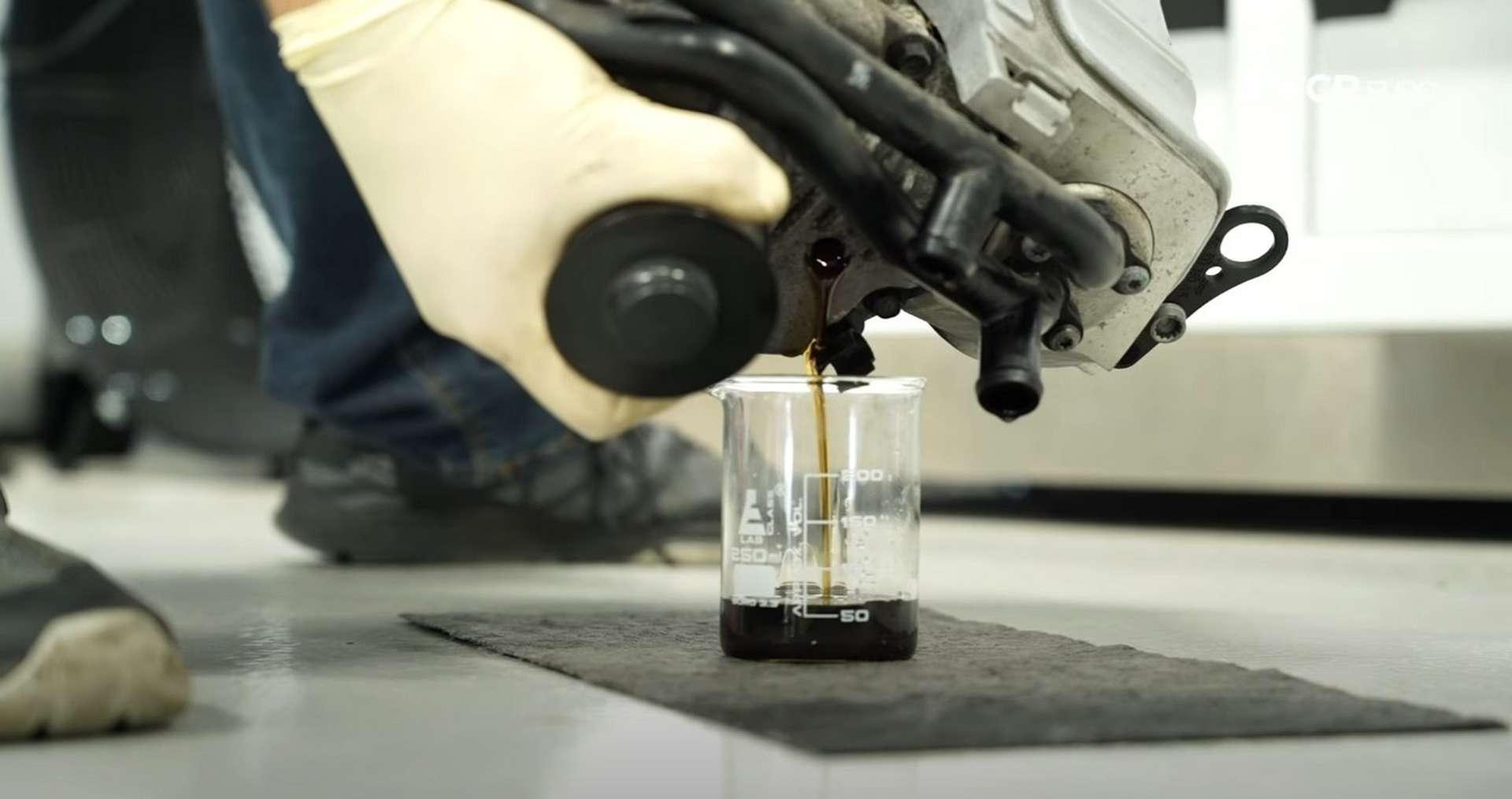 DIY Audi 3.0T Supercharger Oil Change draining the supercharger