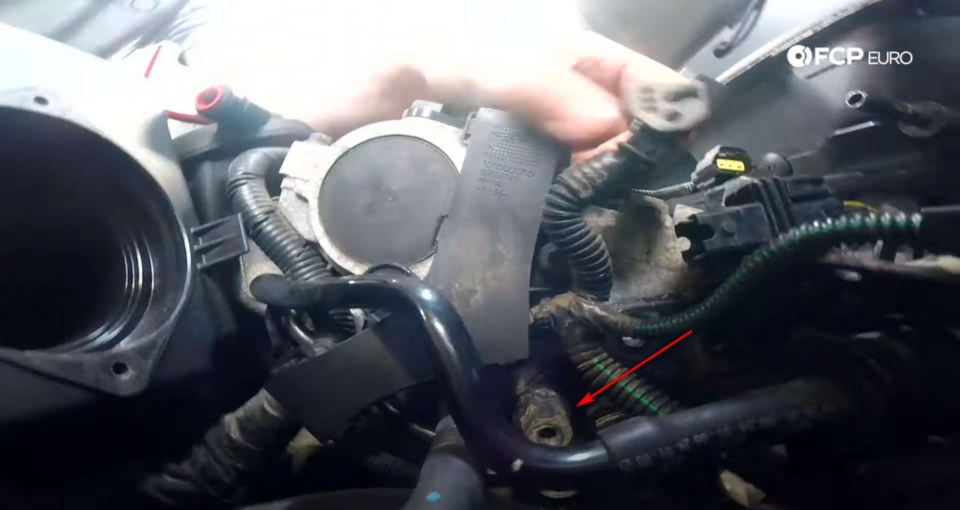 DIY Volvo P1 Water Pump Replacement removing the 16mm bolt