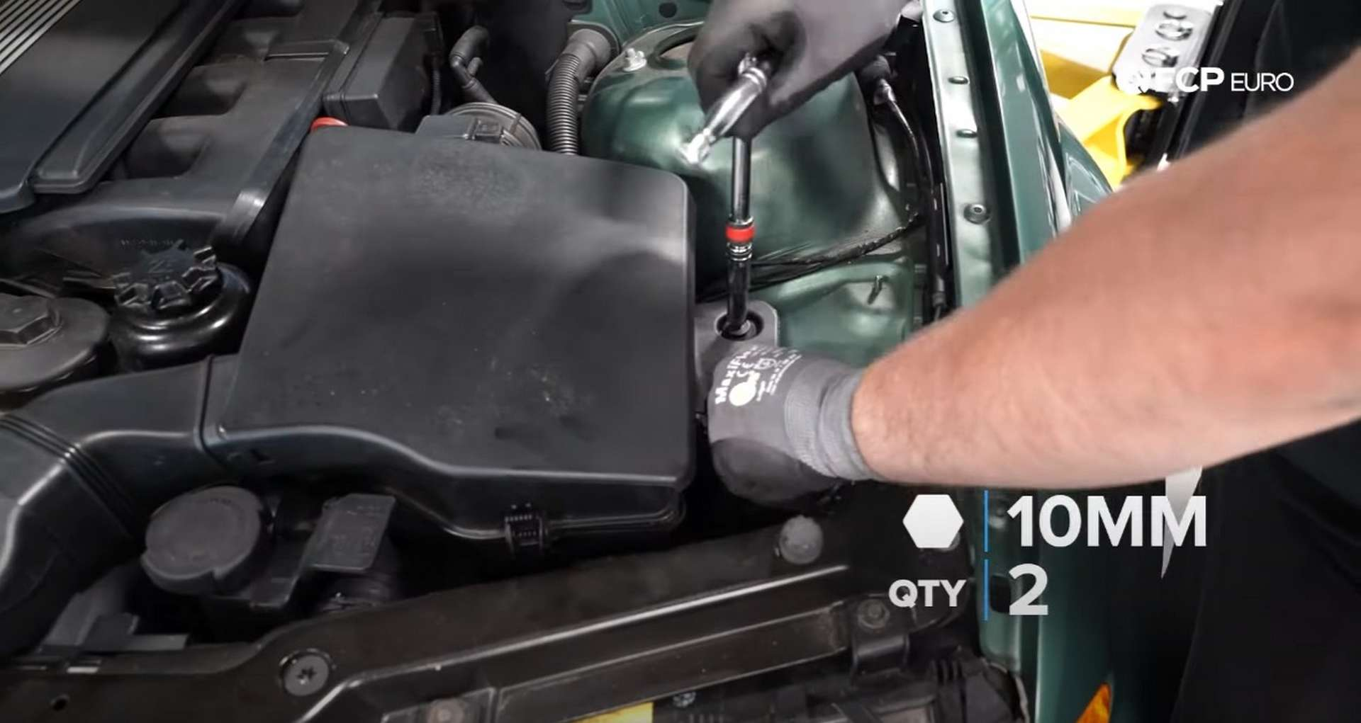 DIY BMW E46 Oil Filter Housing Gasket and VANOS Line Replacement removing airbox bolts