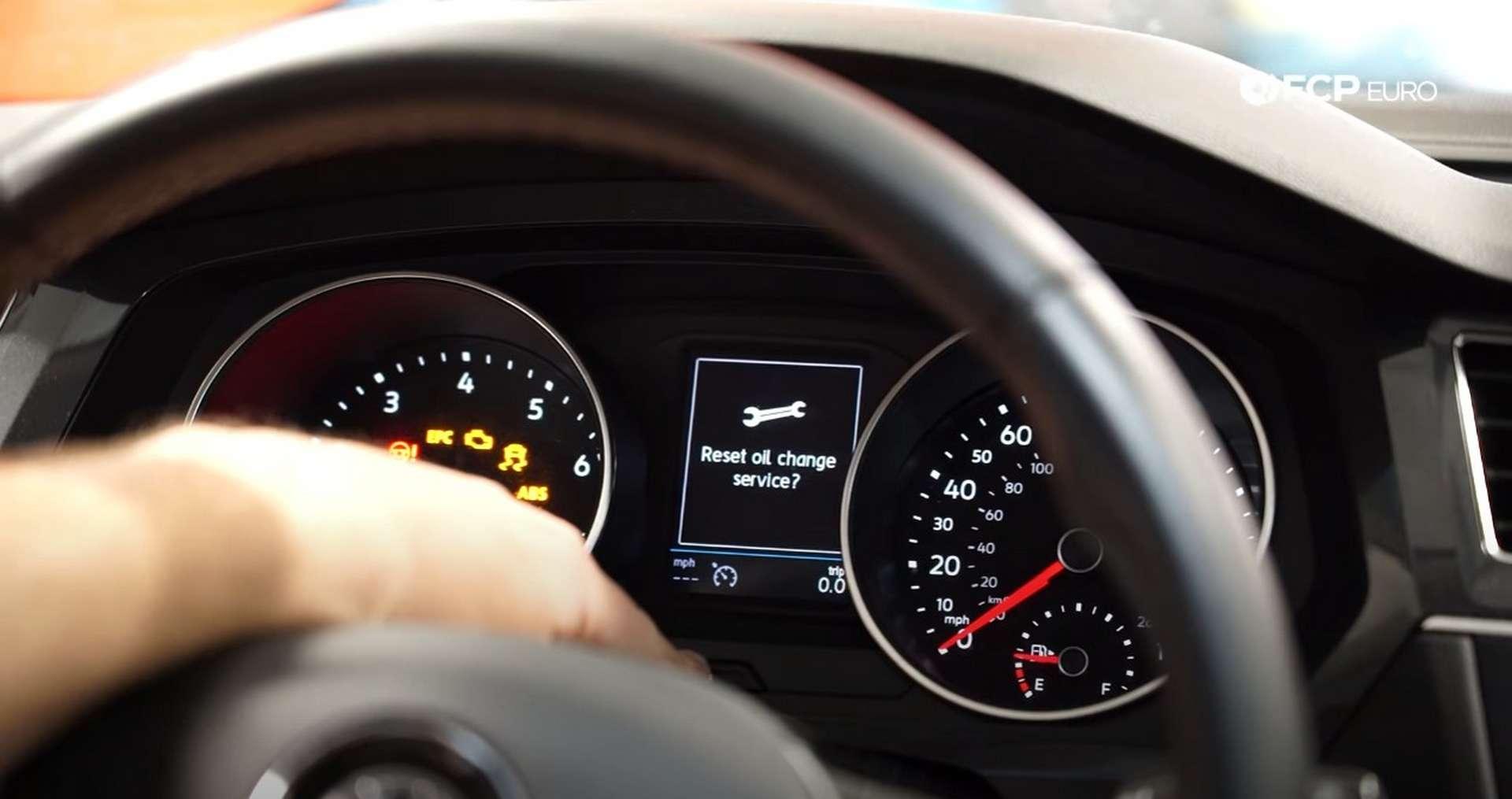 """DIY Volkswagen EA888 Oil Change """"reset oil change service"""" prompt"""