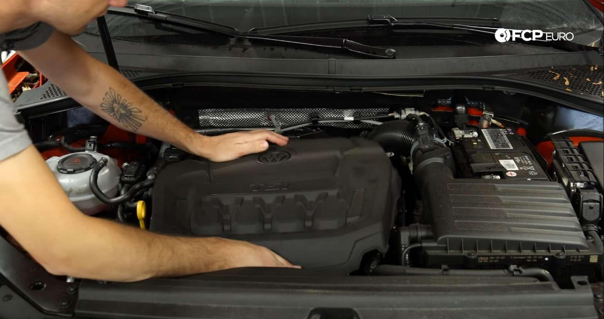 DIY Volkswagen EA888 Oil Change refitting the engine cover