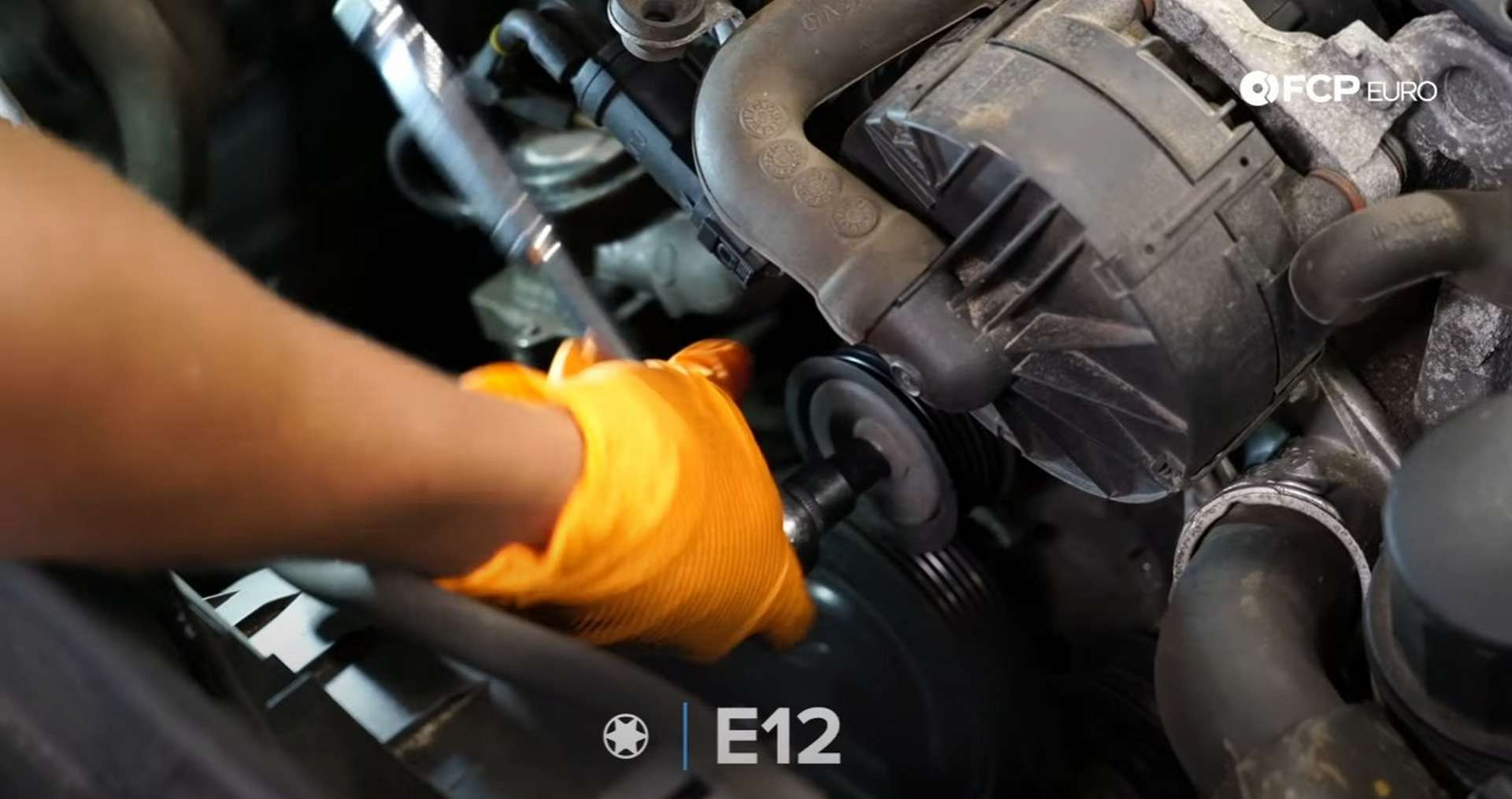 DIY Mercedes W212/204 Alternator and Drive Belt Replacement removing the water pump idler pulley