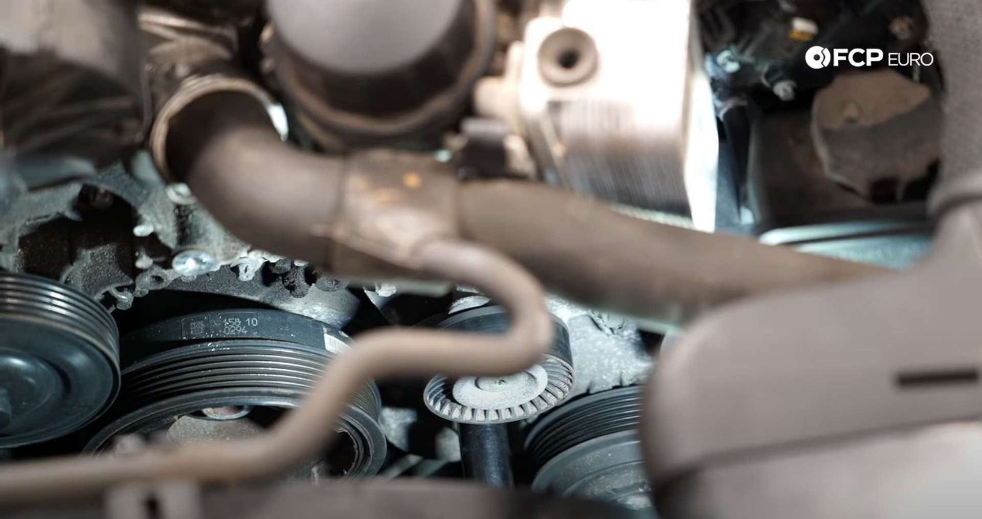 DIY Mercedes W212/204 Alternator and Drive Belt Replacement rotating the tensioner
