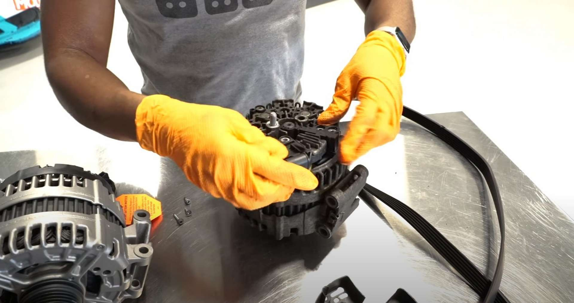 DIY Mercedes W212/204 Alternator and Drive Belt Replacement removing the voltage regulator
