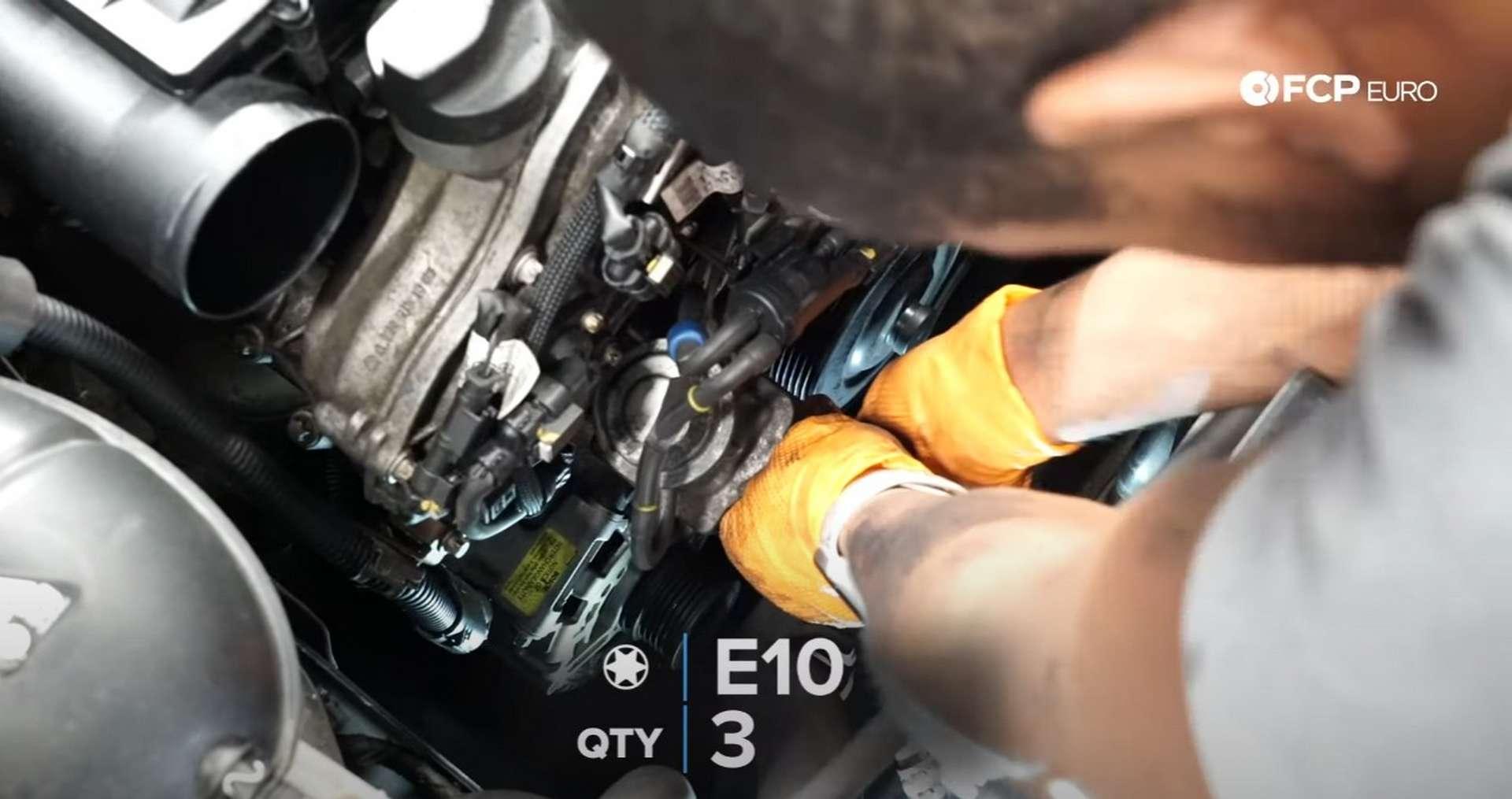 DIY Mercedes W212/204 Alternator and Drive Belt Replacement installing the combi valve