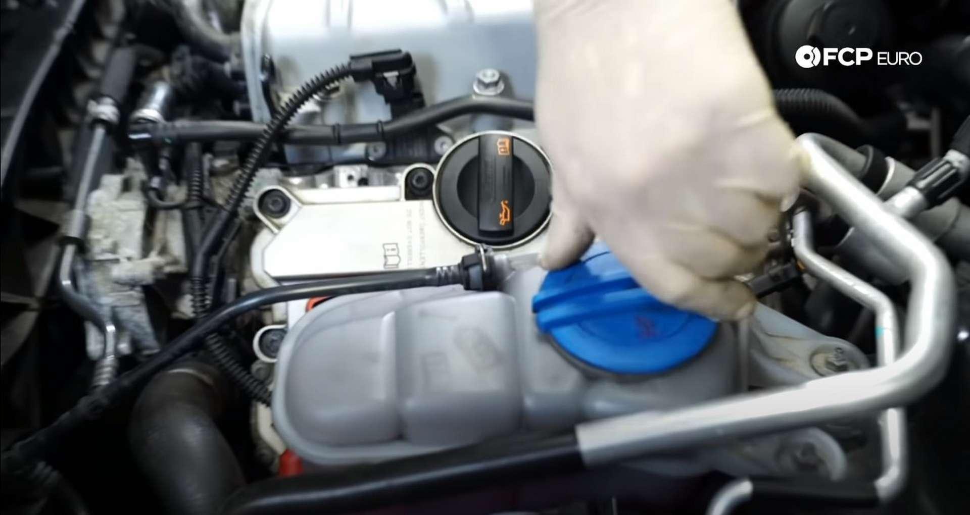 DIY Audi 3.0T PCV/AOS Replacement removing evap hose