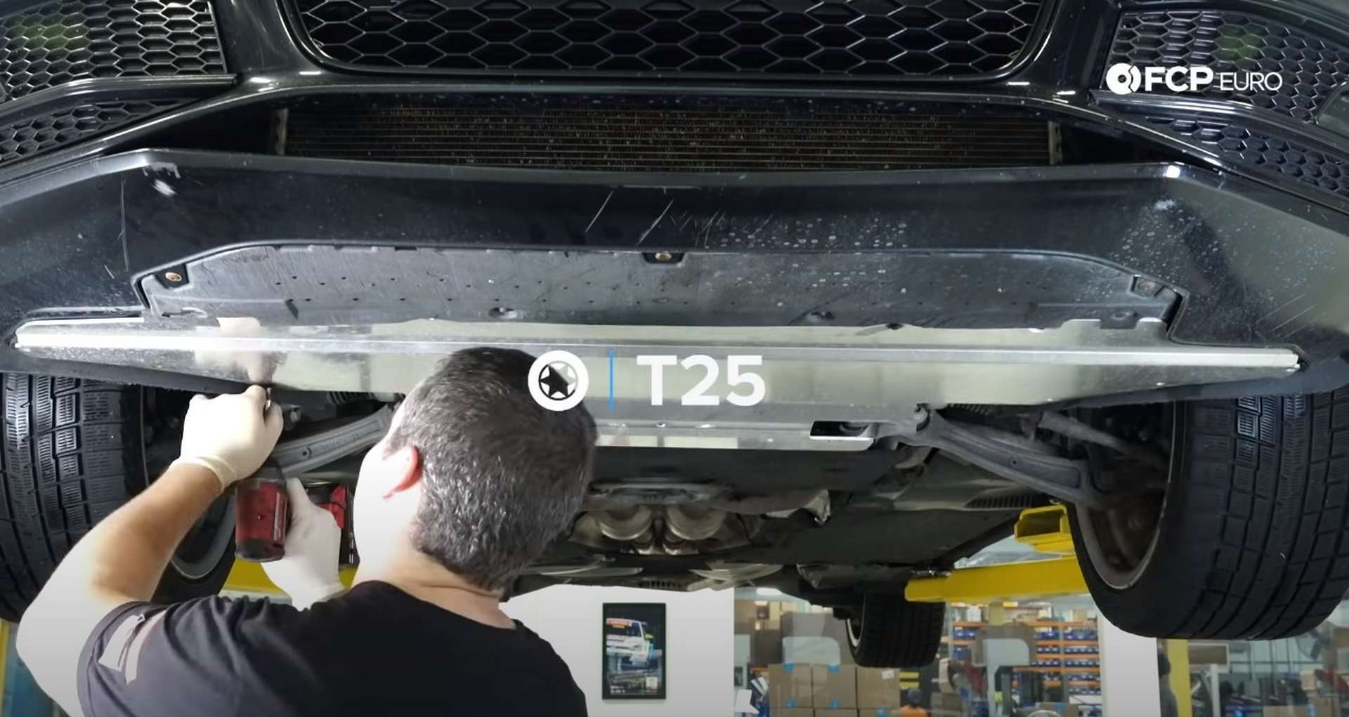 DIY Audi 3.0T PCV/AOS Replacement removing the undertray