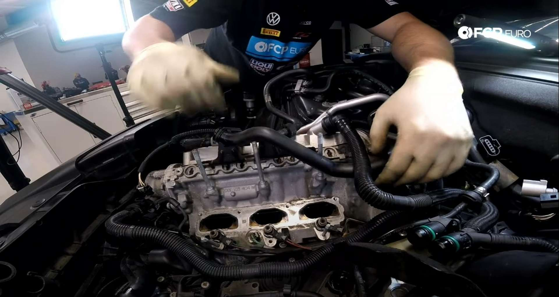DIY Audi 3.0T PCV/AOS Replacement moving coolant pipe onto stud