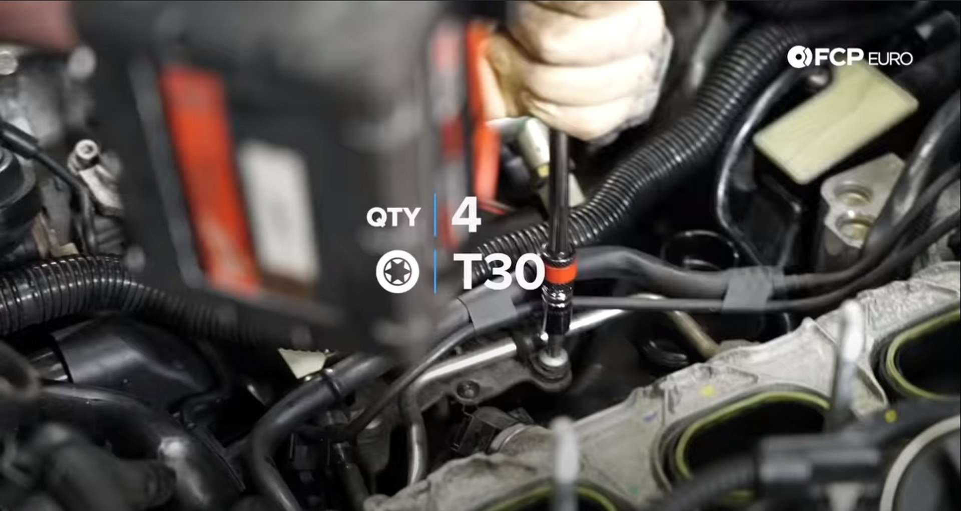 DIY Audi 3.0T PCV/AOS Replacement securing the fuel lines to the engine