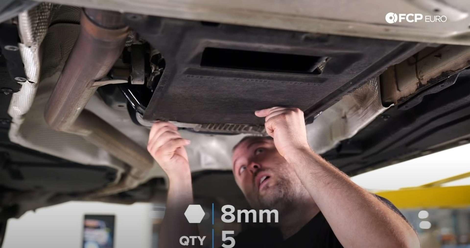 DIY BMW ZF 8HP Oil Change refitting the splash shield