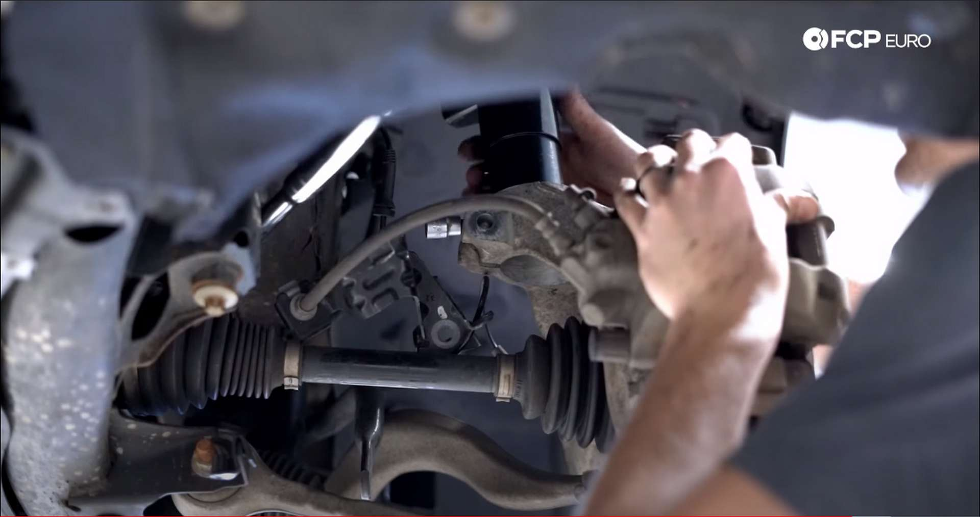 DIY BMW F30 xDrive Coilovers reuniting the knuckle with the strut